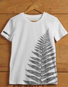 ​MOANA ROAD T-SHIRT KIWIANA FERN WHITE